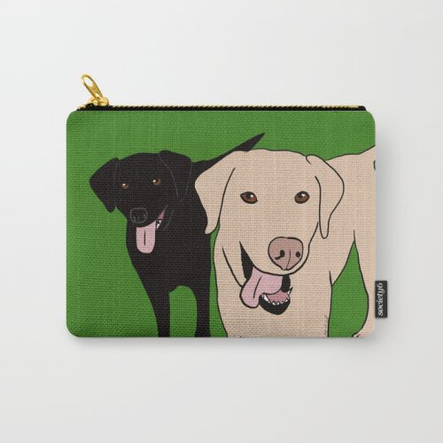 Tanner and Lily Labrador Buddies Carry All Pouch