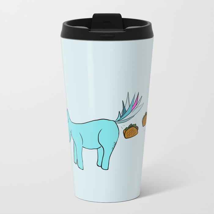 Unicorn Pooping Tacos Travel Mug