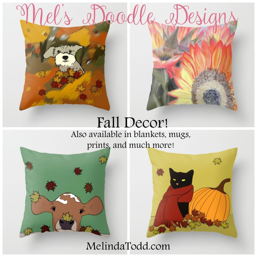 Fall Home Decor by Mels Doodle Designs