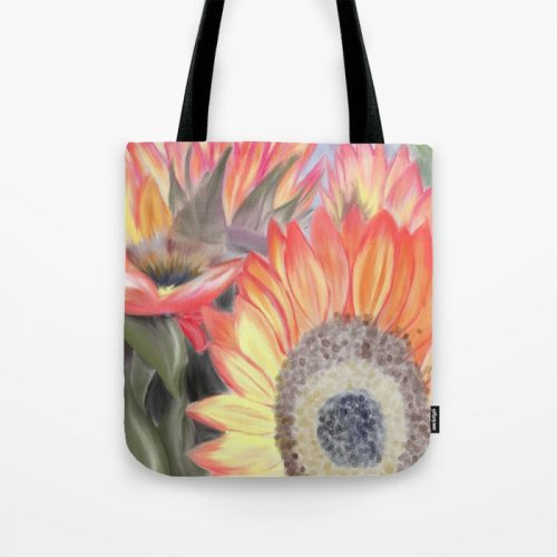 Fall Sunflowers Tote Bag