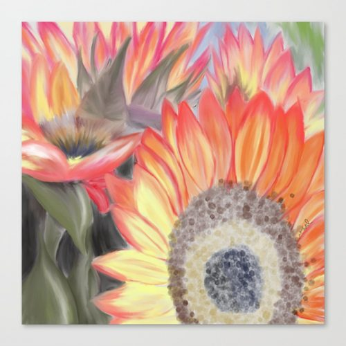 Fall Sunflowers by Melinda Todd Canvas Print
