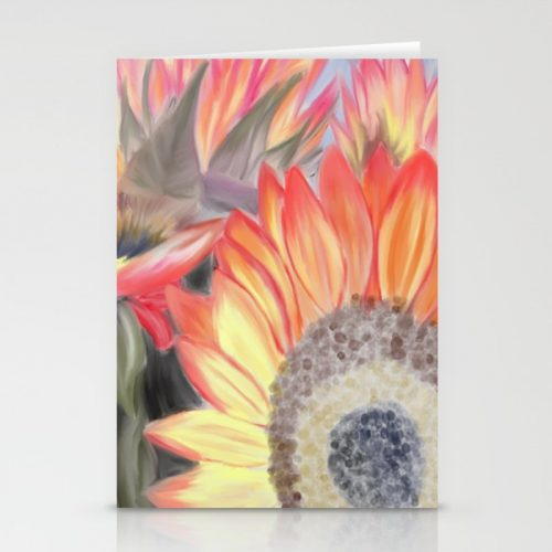 Fall Sunflowers Greeting Cards