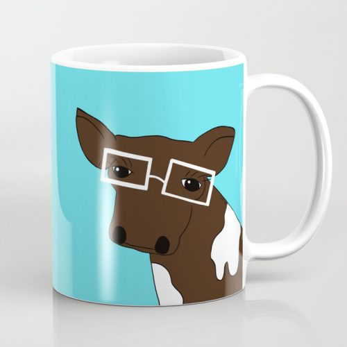 Matilda the Hipster Cow Coffee Mug
