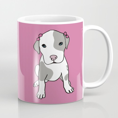 Millie The Pit Bull Puppy Coffee Mug  by Mel's Doodle Designs