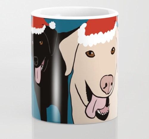 Labs Love Christmas Coffee Mug by Mel's Doodle Designs