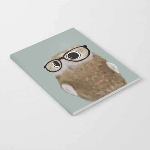 Owl Be Seeing You Notebook by Mel's Doodle Designs