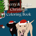 Merry and Bright Christmas Coloring Book by Mel's Doodle Designs