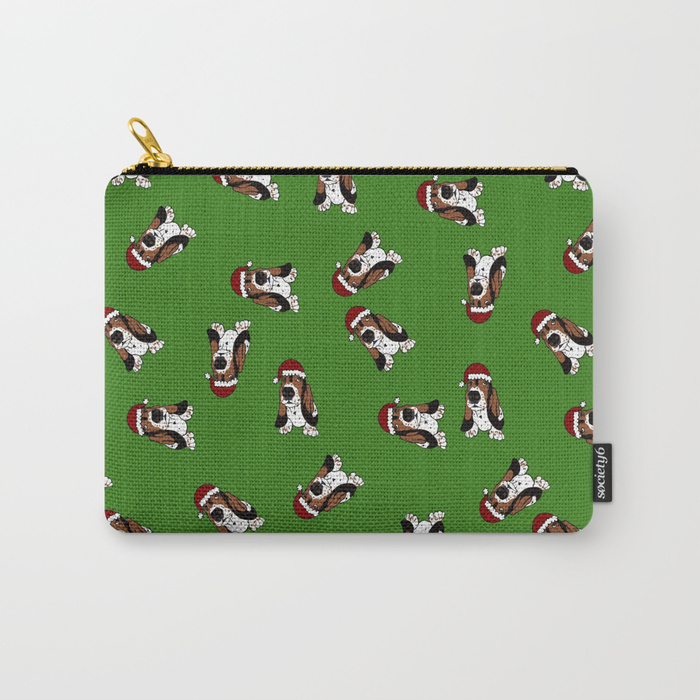 A Basset Full of Christmas Carry All Bag by Mel's Doodle Designs