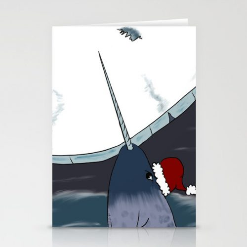 A Narwhal Christmas Cards by Mel's Doodle Designs
