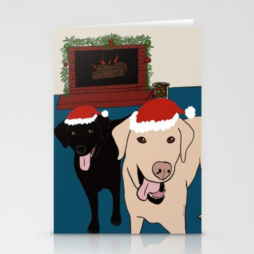 Labs Love Christmas Cards by Mel's Doodle Designs