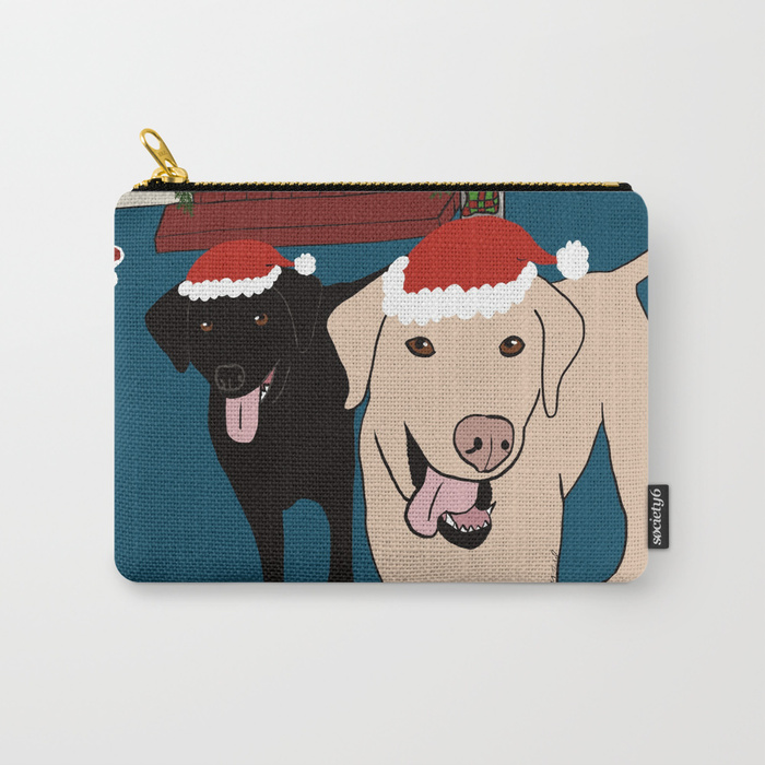 Labs Love Christmas Carry All Bag by Mel's Doodle Designs