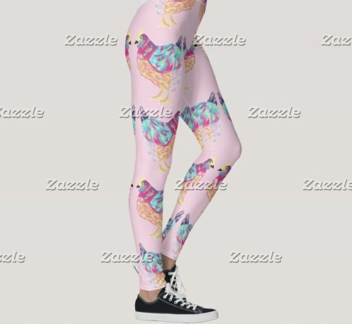 Pretty Chicken Leggings by Mel's Doodle Designs