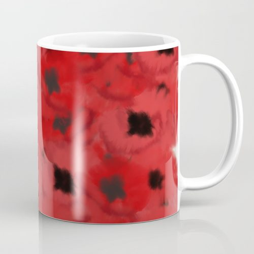 Field of Poppies In Summer Coffee Mug by Mel's Doodle Designs