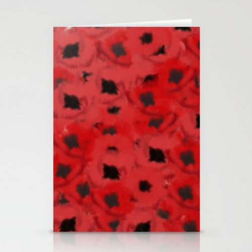 Field of Poppies In Summer Greeting Cards by Mel's Doodle Designs
