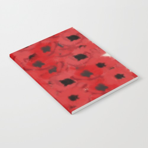 Field of Poppies In Summer Journal by Mel's Doodle Designs