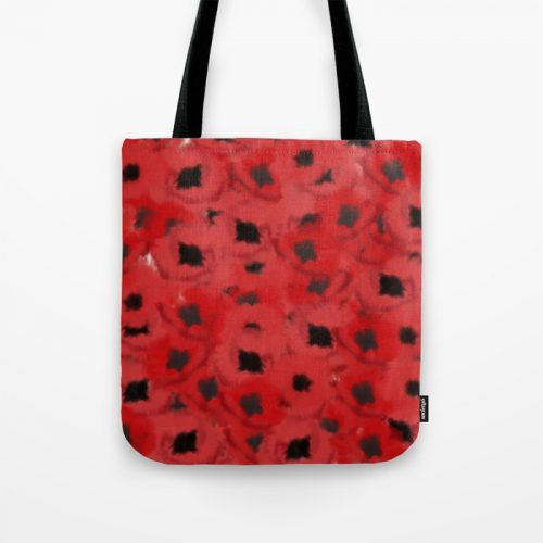 Field of Poppies In Summer Tote Bag by Mel's Doodle Designs