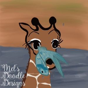 Baby giraffe by Mel's Doodle Designs