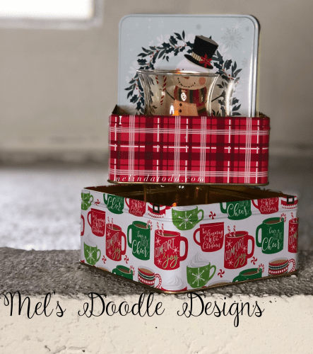 Cute Christmas Canister Tier Tray by Mel's Doodle Designs