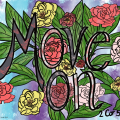 Move on colored lettering page by Mel's Doodle Designs