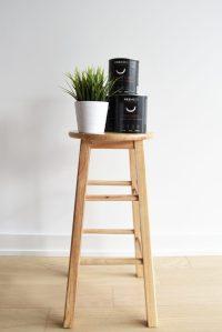 DIY: Minimalist Painted Bar Stools