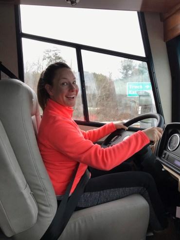 Me behind the wheel!