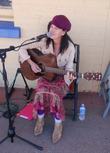 Busking Guyra in early October 2014.