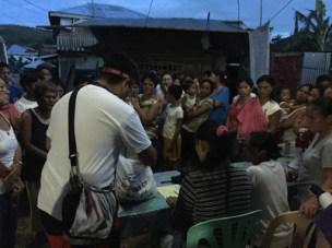 Relief distribution in Marabut, Western Samar