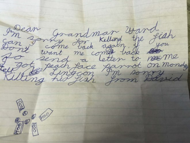 It must have meant a lot to her, because grandma kept this letter for over 25 years.