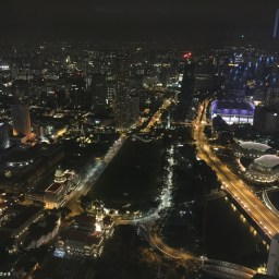 singapore from the 67th floor