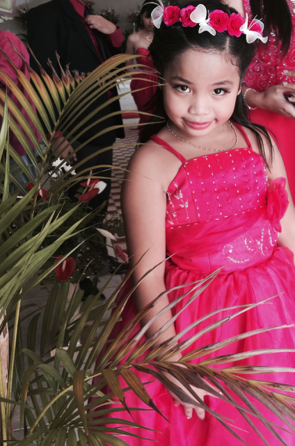 Wedding of Nichol and Ronalyn - flowergirl
