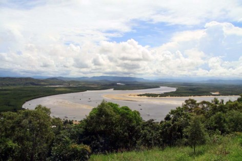 snap from last weekend: view over beautiful Cooktown from Grassy Hill ... 29/03/2012
