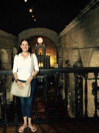 mel at the bamboo church
