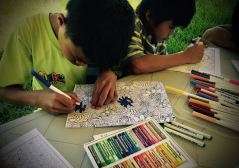 even boys like to colour-in