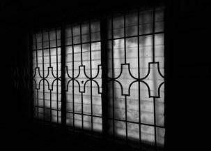 looking through the black window