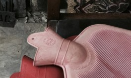 a protest by pink hot water bottles