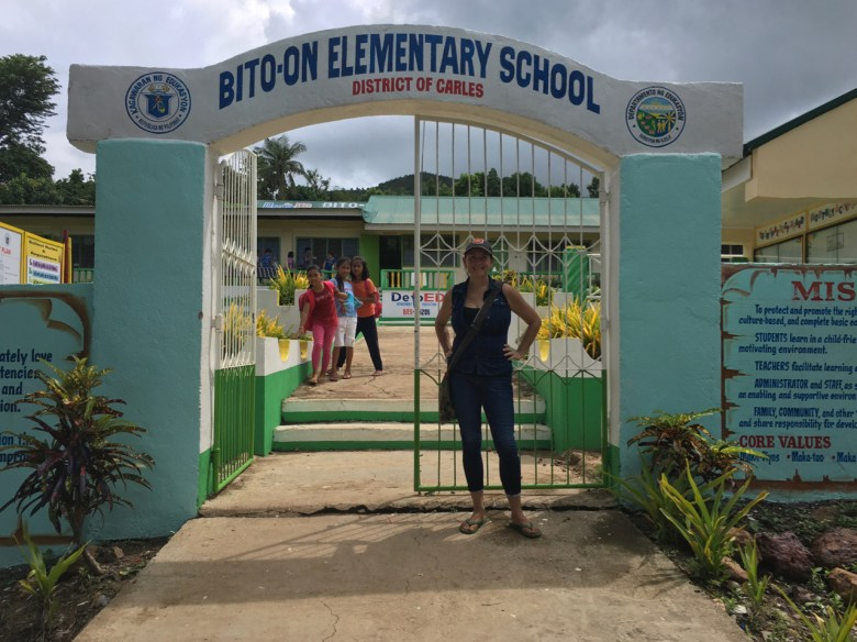visiting an elementary school in the Philippines