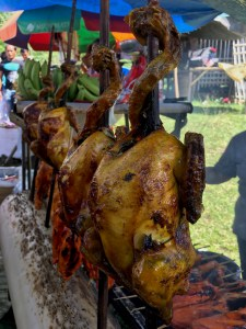 native chicken on the BBQ, Philippines