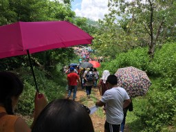 walking down the hill from the shrine of Agtalin