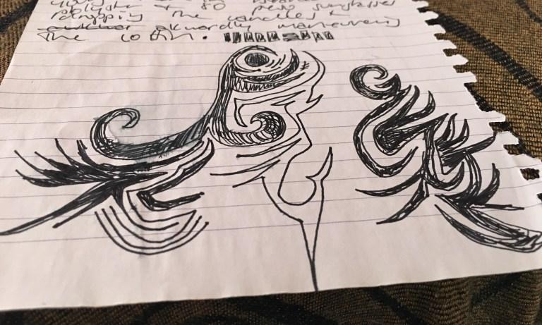 hand scribbled doodle