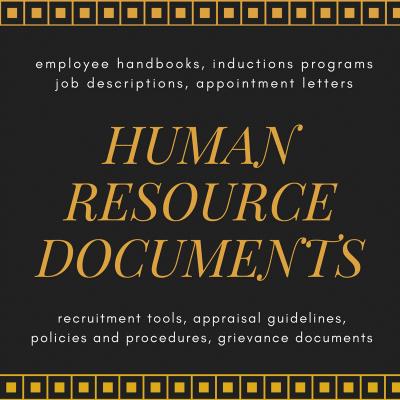 human resources documents by Melinda J. Irvine