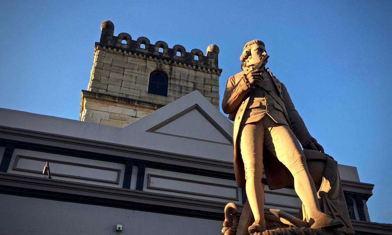 statue of captain cook in Avoca Street Randwick