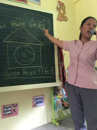 Ma'am Manelli explains the greenhouse effect