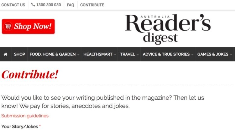 get paid to write your personal story for reader's digest