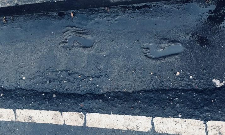 footprints by Melinda J. Irvine