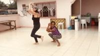tita mel and anael dancing