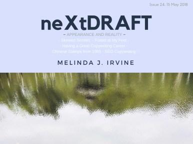 neXtDRAFT an eZine by Melinda J. Irvine Issue 24.