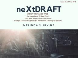neXtDRAFT an eZine by Melinda J. Irvine Issue 26.