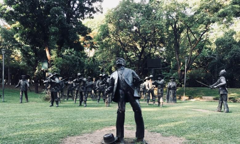 the execution of jose rizal - art memorial - manila