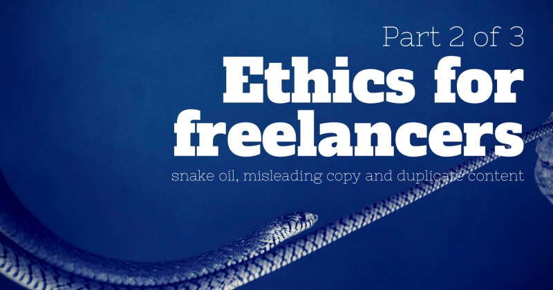 Melinda J. Irvine -- ethics for freelancers - part 2 of 3