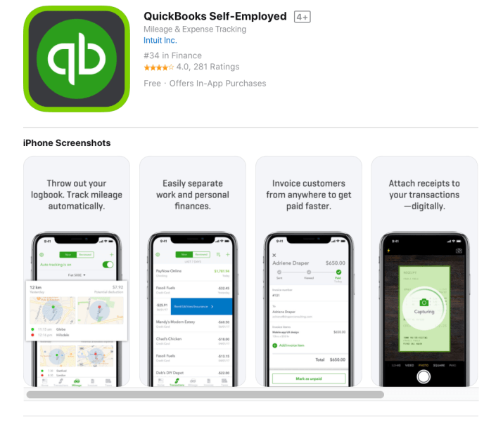 quickbooks self employed
